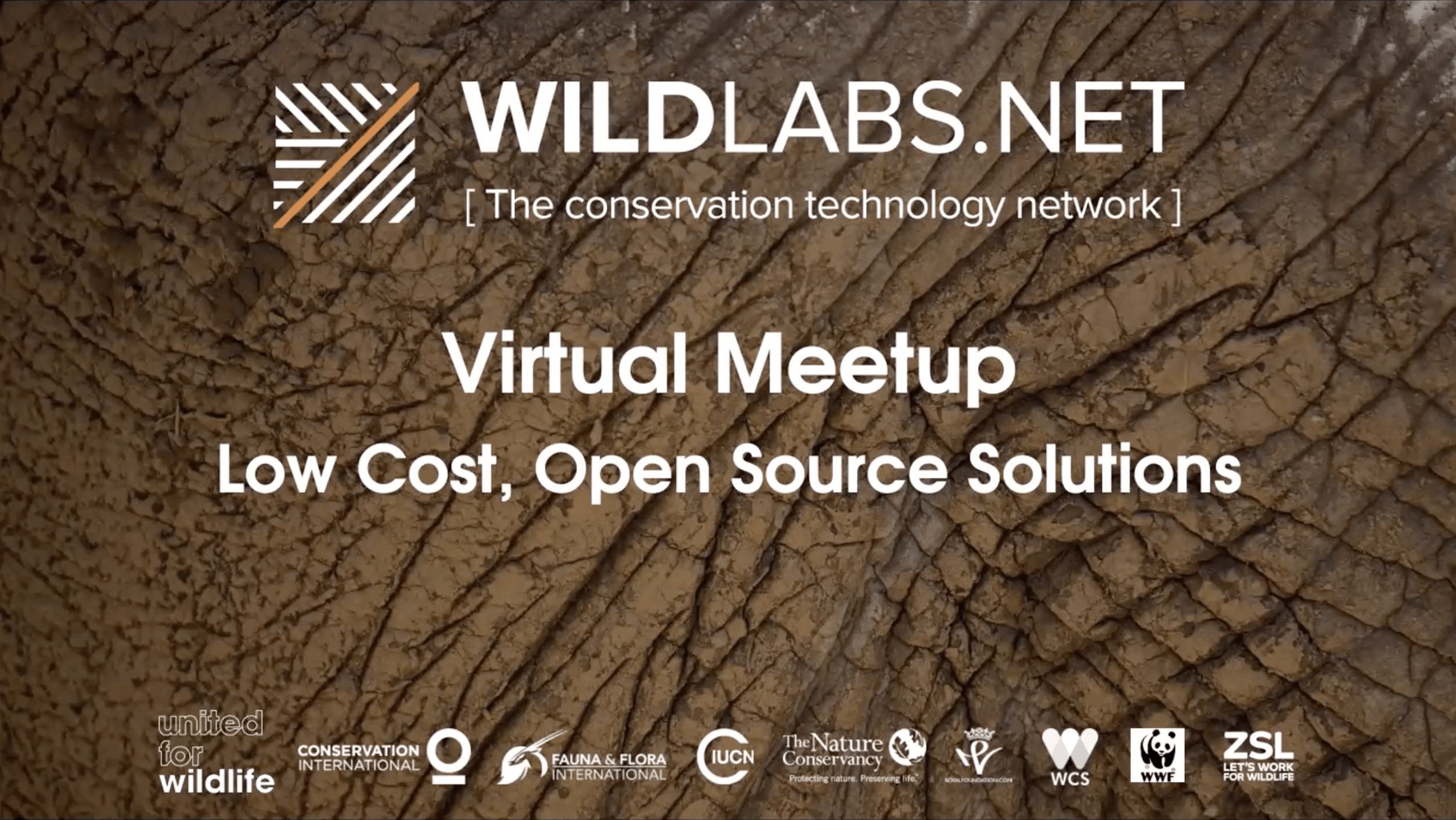 WILDLABS Virtual Meetup Link to Open Source Video Recording