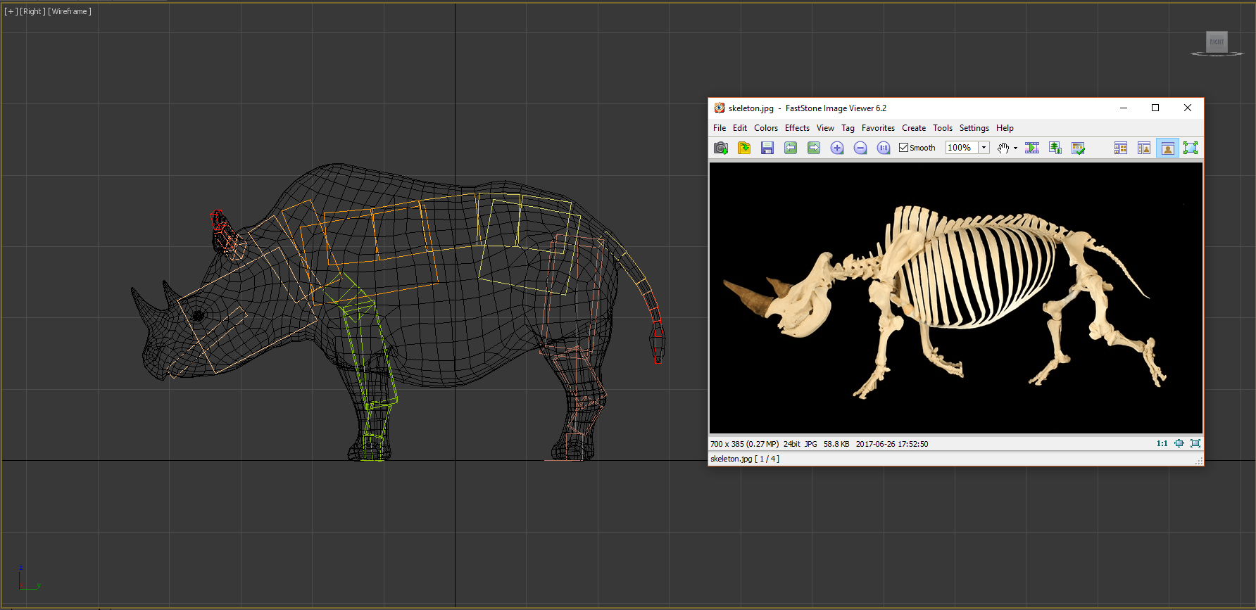 creating Lola in AR - the skeleton