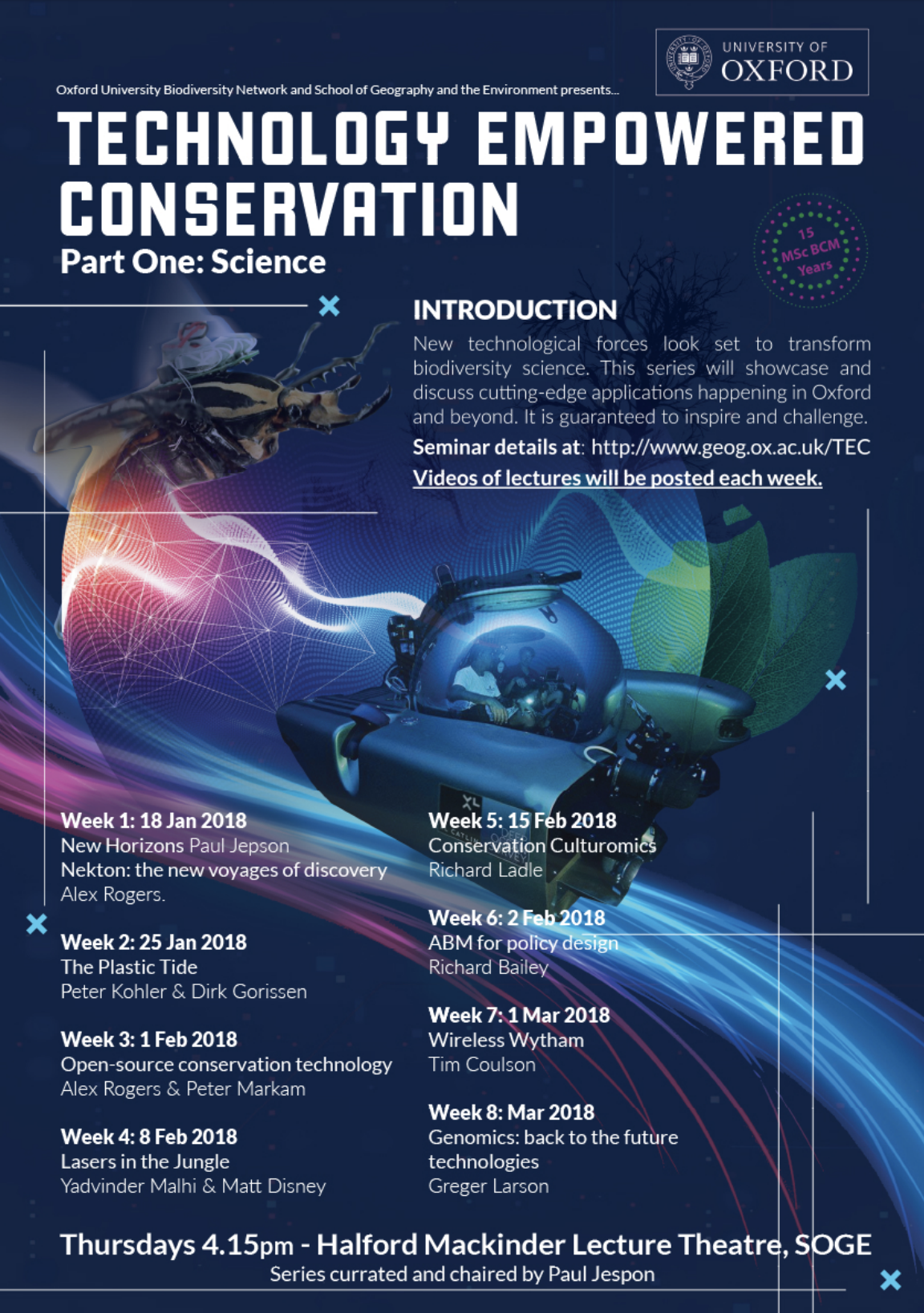 Conservation tech seminar series poster